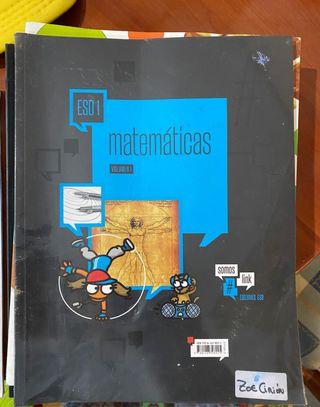 Pack de 3 libros matemáticas 1 eso