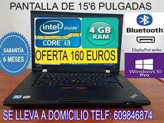 PORTATIL CORE i3 CON 4 GB RAM 320 GB DISCO DURO