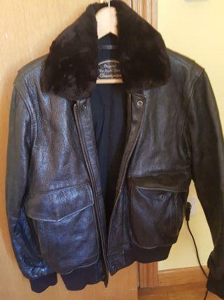 chaqueta cuero aviador chevignon 100