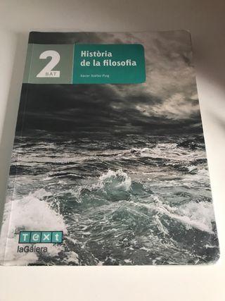 Història de la filosofia. Editorial Text Galera