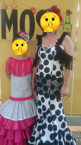 traje flamenca niña y mujer