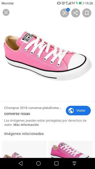 Converse rosa de segunda mano en Valladolid en WALLAPOP