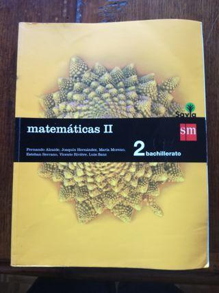 Libro Matemáticas II. 2 Bachillerato. SM