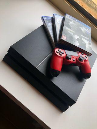PlayStation 4 1TB Color Negro +2 Mandos +3 Juegos