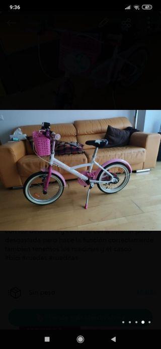 Bicicleta niña Decathlon 4-6 años 16 pulgadas