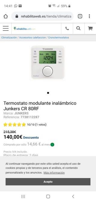 termostato Junkers inalámbrico