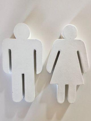 Símbolo figura de género para WC