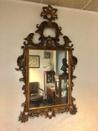 Espejo Rococó dorado