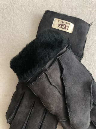 Guantes UGG chica gris piel vuelta Talla M