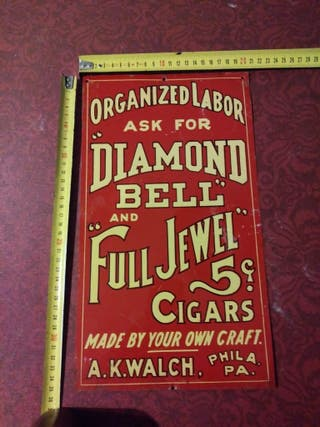 Cartel publicitario Diamond Bell Full Jewels Cigar