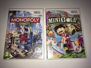 Monopoly y carnival minigolf wii
