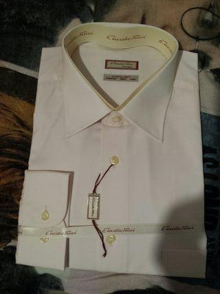 Camisa manga larga rosa talla 6