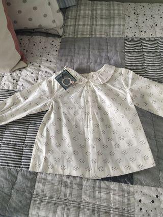 Camisa Gocco estrellitas 9-12 meses sin estrenar