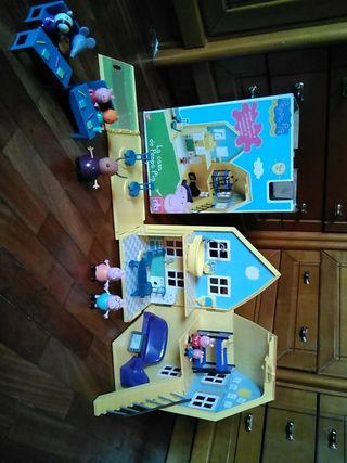 Casa PEPA Pig .colegio y familia pig. Envio gratis
