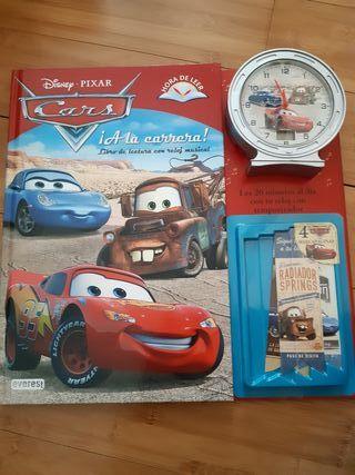 libro infantil Cars Disney + reloj