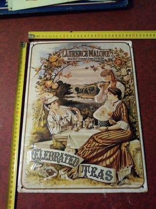 Cartel Publicitario Laurenc Malone Celebrated Teas