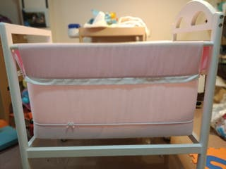 Minicuna bebe rosa