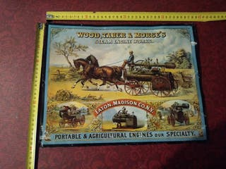 Cartel Publicitario Engines Wood, Taber and Morse