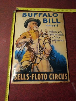 Cartel Publicitario Buffalo Bill Sell Floto Circus
