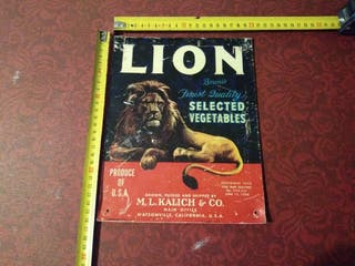 Cartel Publicitario Lion Selected Vegetables