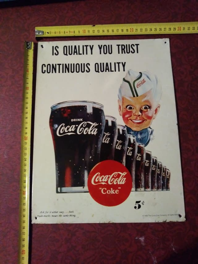 Cartel Publicitario Coca Cola Coke Quality Trust De Segunda Mano Por 45 En Gandía En Wallapop