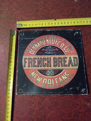 Cartel Publicitario French Bread New Orleans