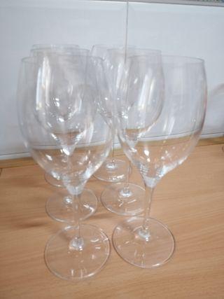 Lot copes grans vidre / Lote copas grandes cristal