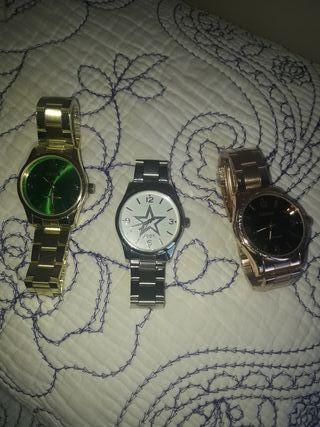 relojes nuevos lote 3 o sueltos