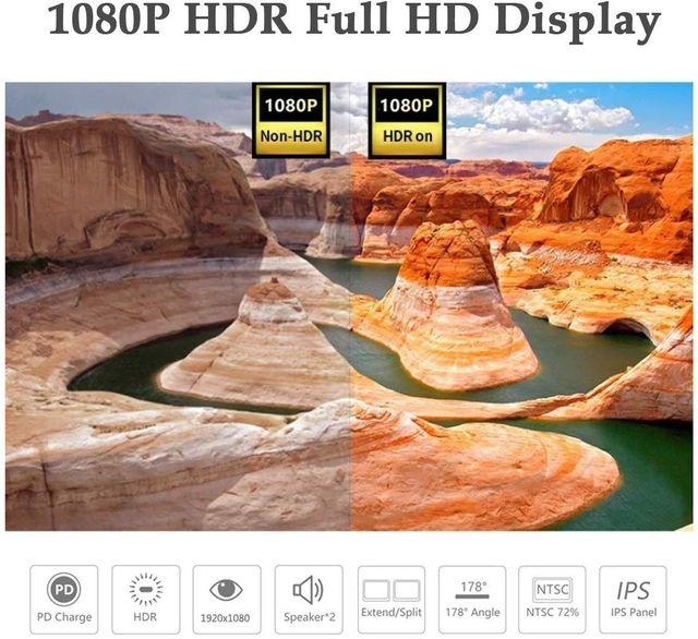 "Monitor Pantalla Portátil 15.6"" Full HD Led"