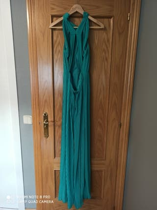 vestido largo turquesa Fórmula Joven