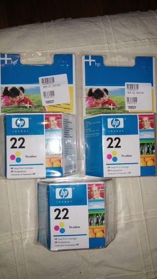 cartuchos de tinta originales HP 22