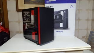 NZXT H400i Cristal Templado USB 3.0 Negra/Roja