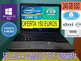 PORTATIL CORE i5 CON 4 GB RAM USB 3.0 240 GB SSD