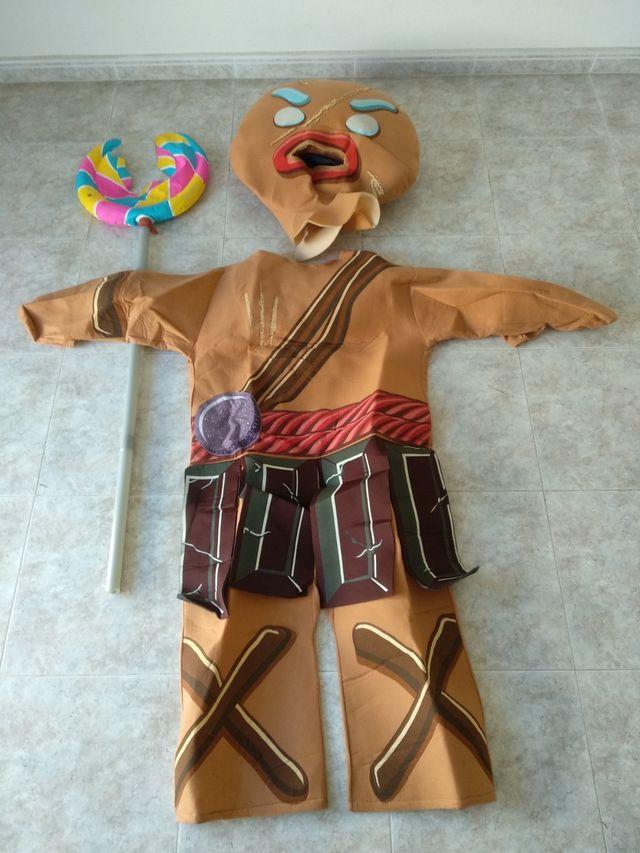 Disfraz Galleta Jengibre Shrek Carnaval De Segunda Mano Por 27 En águilas En Wallapop