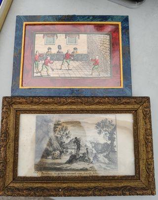 2 curiosos cuadros antiguos