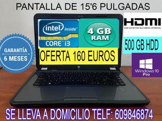PORTATIL HP CORE i3 CON 4 GB RAM 500 GB HDD HDMI