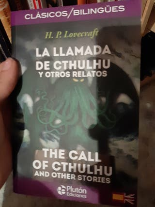 H.P Lovecraft, mitos del Cthulhu, doble idioma.