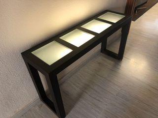 Mueble recibidor con luz