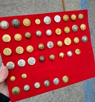 Lote botones militares