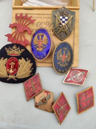 Lote insignias militares falange militar militaria