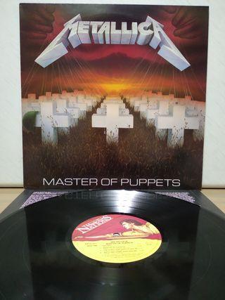 Metallica - Master Of Puppets 1986 UK encarte