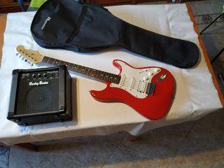Kit guitarra electrica + amplificador + funda