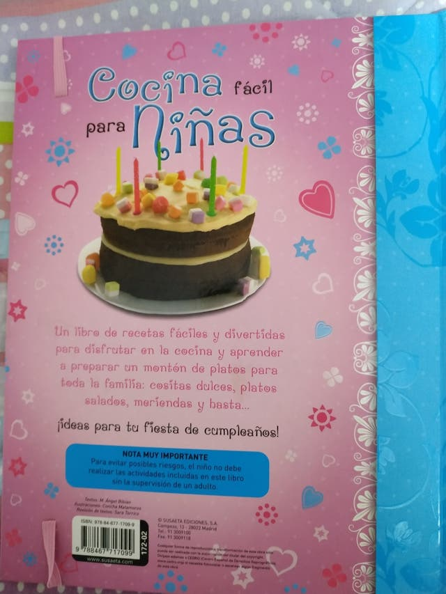 Libro de cocina para niñas