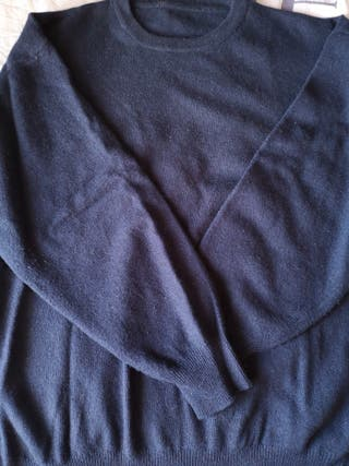 jersey de lana azul calentito