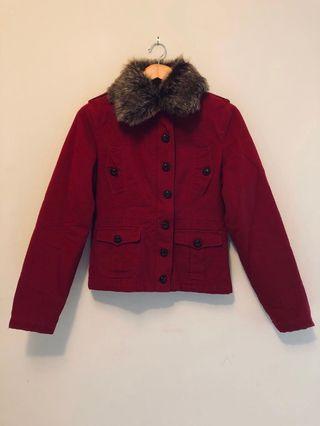 Naf Naf Red Jacket with Pockets Size M