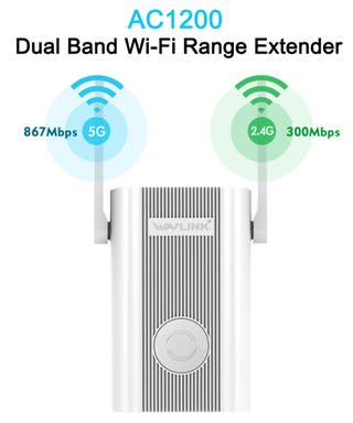 1200Mbps 2,4 GHz 5GHz Repetidor Wifi