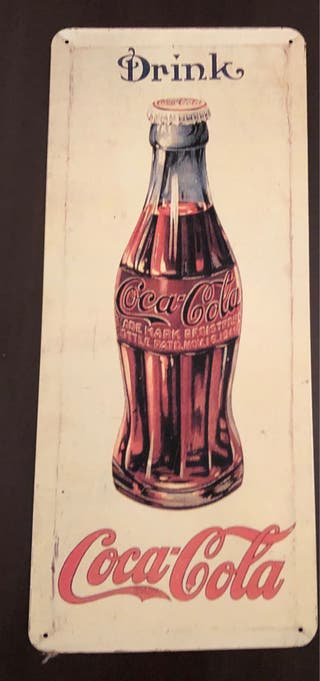 Cartel metal Coca Cola