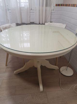 Vendo mesa redonda de madera