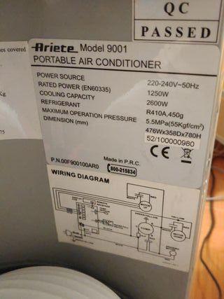 aire acondicionado portatil Ariete 9001