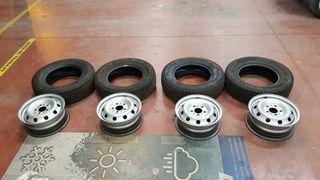 Llanta + Neumático Michelin Agilis 215 70 15 90%